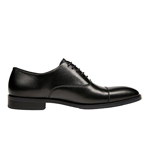 Kingstep Zapatos De Cordones De Cuero Con Cordones Para Hombre, Con Cordones, Negro De Kingstep