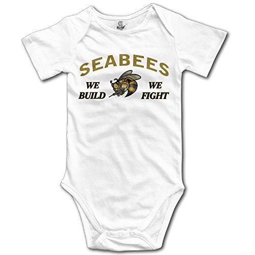 Price comparison product image Navy Seabees Logo Cute Unisex Baby Boy Girl Onesise