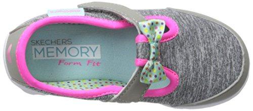 Skechers Kids Go Walk Bitty Bow Sneaker (Toddler/Little Kid),Gray/Multi, by Skechers (Image #8)