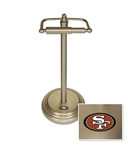 Toilet Paper Stand Featuring Your Favorite Football Team Logo (49ers) (Team Logo Tissue)