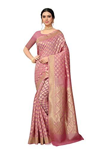 Aaparam Fashion Women's Rapier Woven Self Design Banarasi Silk Saree