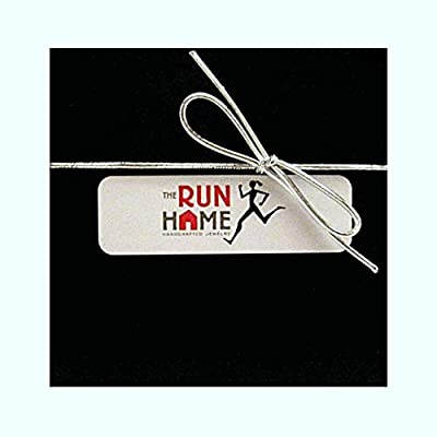 RUN with NO EXCUSES Key Chain/Bag Tag - Running Shoe Charm and Rectangle Nickel Silver Pendant - Stainless Steel Round Key Ring