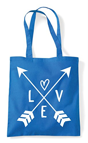 Bag Crossed Arrows Tote Statement Sapphire Love Shopper xdI4q5p