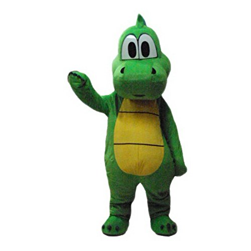 (Green Dinosaur Langteng Mascot Costume Cartoon Character Real)