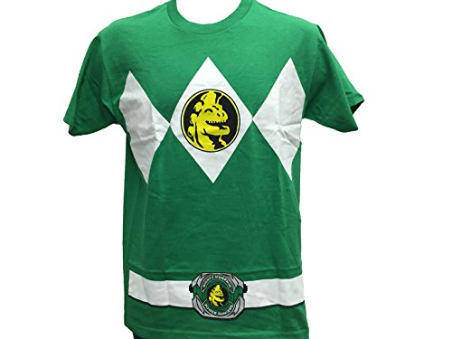 Authentic Tv Show Costumes (Power Rangers Men's Ranger Costume Cosplay T shirt 2X-Large Green)