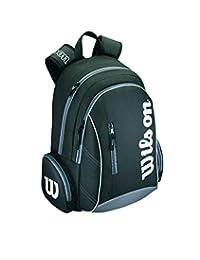 WILSON Advantage II - Mochila de Tenis, Color Negro y Blanco