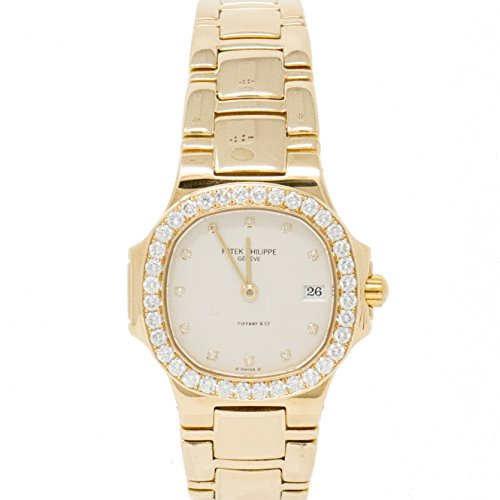 Patek Philippe AND Tiffany, Solid Gold and Diamond Nautilus womens Watch 4700/530 (Certified Pre-owned) - Patek Philippe Ladies