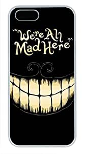 We're All Mad Here - Personalized Crystal Clear Enamel Hard Back Shell Case Cover Skin for iPhone 4/4S