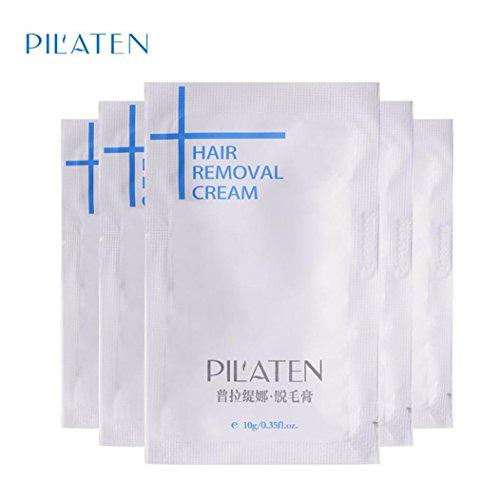 Hairless Summer! New Women & Men Hair Removal Cream Depilatory Paste For Leg Hair Armpit (PILATEN) (5pc)
