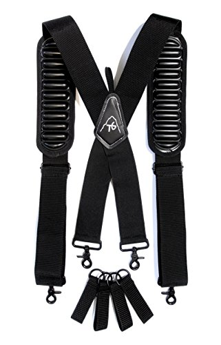 - Tool Belt Suspenders- Heavy Duty Work Suspenders for Men, Adjustable, Comfortable and Padded -Includes- Tool Belt Loops and Strong Trigger Snap Clips by ToolsGold