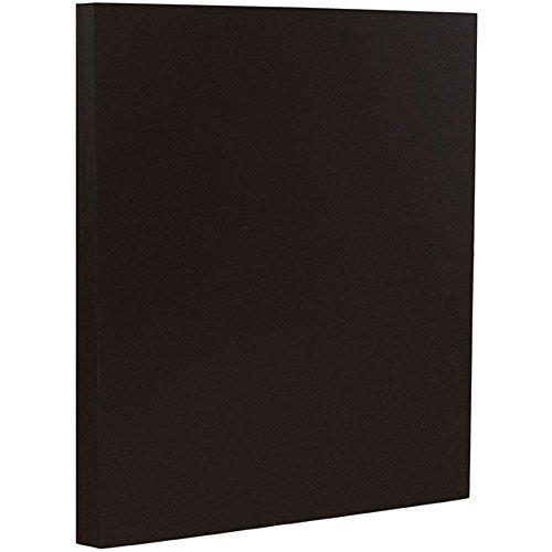 JAM PAPER Matte 32lb Paper - 8.5 x 11 - Black Linen Recycled - 50 Sheets/Pack