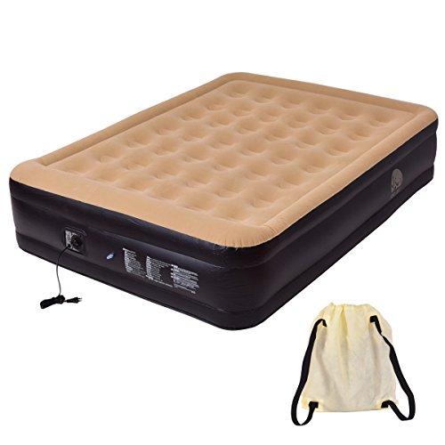 Luftbett Luftmatratze Gästebett Camping Reisebett Feldbett Matratze Bett mit Pumpe aufblasbar 203x157x47cm suWgtNi