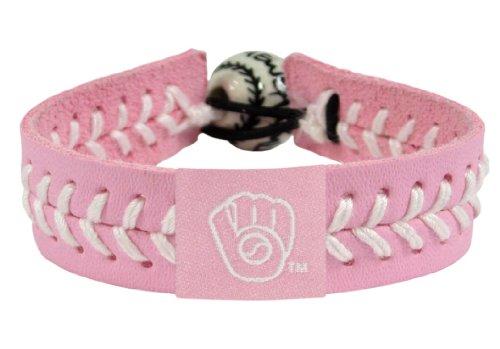 GameWear MLB Milwaukee Brewers Retro Pink Leather Baseball (Pink Mlb Baseball)