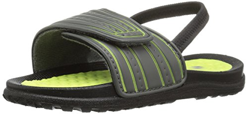 The Children's Place Boys' TB Sport Slide Slipper, Storm, 5-6 M US Toddler (Storm Slide)