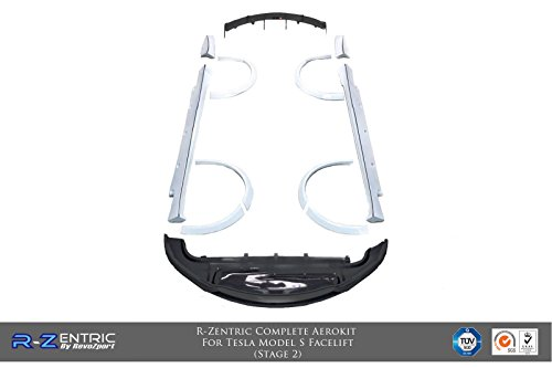 (R-Zentric Complete Aerokit For Model S Facelift (Stage 2) (MattCF))