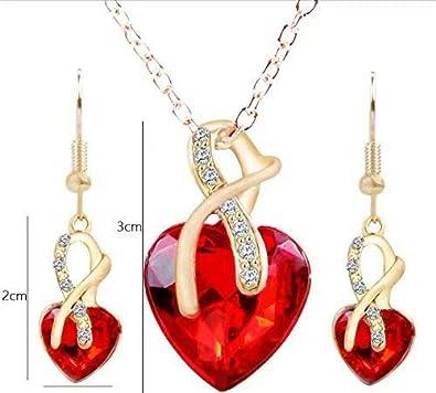 Cristal Collier Boucle doreille Pendante Bracelet Collier Femme Yidarton plaqu/é Argent Ange Larme Bijoux