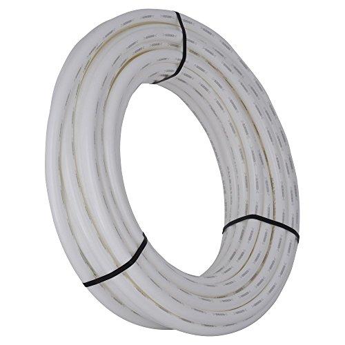 Tubing White Pex (SharkBite U880W100 PEX Pipe 1 Inch, Flexible Water Tube, Potab, 100-Foot, White)