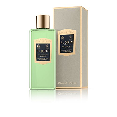 Floris London Lily of the Valley Moisturising Bath & Shower Gel, 8.4 fl. oz. (Feminine Gel Eau De Toilette)