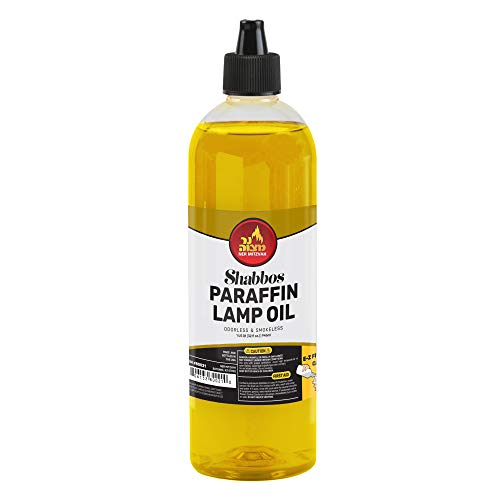 - Ner Mitzvah Paraffin Lamp Oil - Yellow Smokeless, Odorless, Clean Burning Fuel for Indoor and Outdoor Use with E-Z Fill Cap and Pouring Spout - 32oz