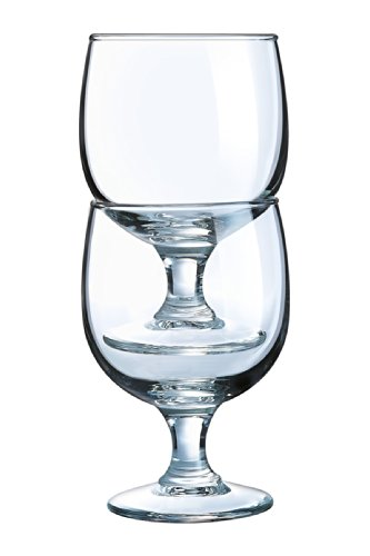 Arc International Luminarc Stack Up Footed Goblet, 10.5-Ounce, Set of (Footed Goblet)