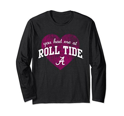 Unisex Alabama Crimson Tide Valentines Day NCAA- V18-ALA XL: Black