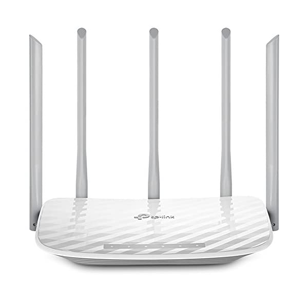 TP-Link AC1350 Wireless Dual Band Router with 5 External Antennas (Archer C60)
