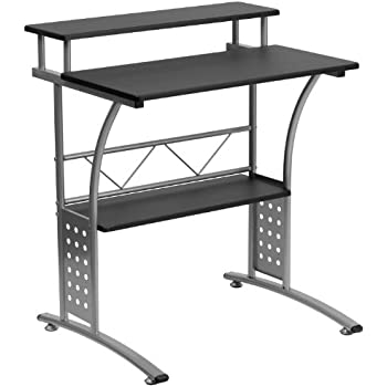 Amazon Com Acme 00118 Vincent Computer Desk Silver