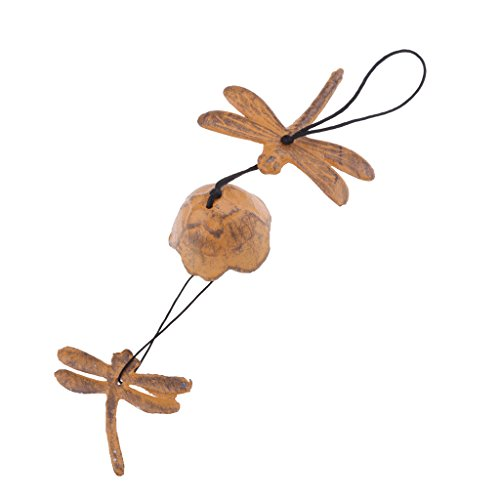 (D DOLITY Japanese Iwachu Cast Iron Dragonfly Bell Wind Chimes,)