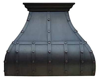 Custom Kitchen Hood Made from Pure Virgin Copper Oil Rubbed Bronze Patina High CFM Vent Included Sinda H13STRO