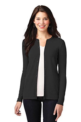 Port Authority Women's Concept Stretch Button Front Cardigan L Black from Port Authority