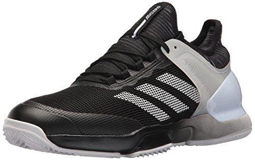 adidas Men's Adizero Ubersonic 2 Clay Tennis Shoe, core Black White, 6.5 M US