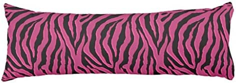 Hot Pink Zebra Animal Print Body Pillow