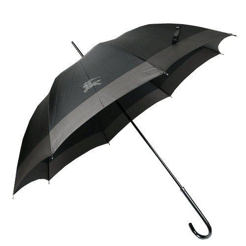 【BURBERRY】バーバリー 日本製 ホースマークデザイン婦人長傘(雨傘) 黒 B00SUGLPQ4