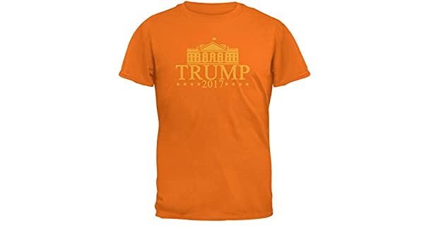 6c899451ce5 Amazon.com  Old Glory Trump Orange White House Funny Mens T Shirt Mandarin  Orange SM  Clothing