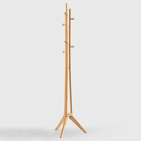 Amazon.com: ZAYYMJ XRXY - Perchero de bambú simple con barra ...