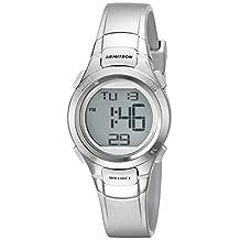 Armitron Sport Women's 45/7012SIL Digital Chronograph Silver-Tone Resin Strap Watch