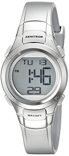 - Armitron Sport Women's 45/7012SIL Digital Chronograph Silver-Tone Resin Strap Watch