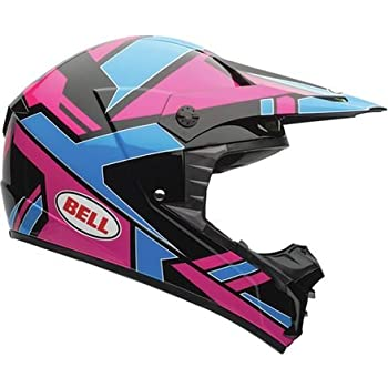 Bell Stack Men's SX-1 MX Motorcycle Helmet - Blue/Pink / X-Large