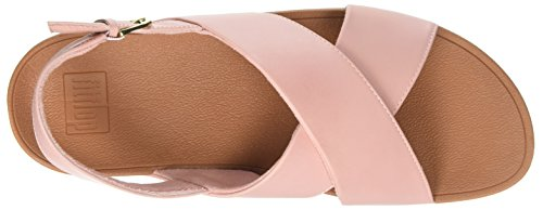 Strap Punta Back Leather Aperta Pink Sandals Dusky Fitflop Rosa Cross 535 Sandali Donna Lulu ExXqfn0wt