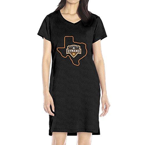 Price comparison product image AIJFW Soccer Dynamo Women's V-neck T Shirt Dress Black XL