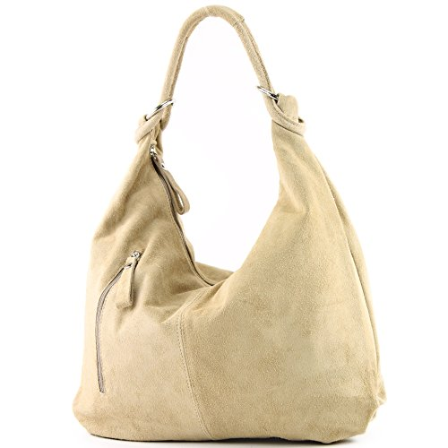 Leather Bag modamoda de Bag T158 Wild Leather ital Hobo Colors Leather Large Bag Sand CzfqwAzx