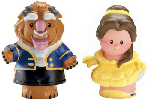 Game / Play Fisher-Price Little People Disney 2 Pack: Belle and Beast. Figurines, Doll, Characters, Collection Toy / Child / Kid