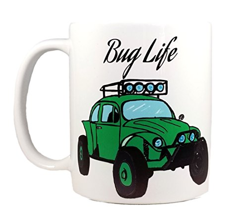 - BUG LIFE by InkPonyArt Green Baja Bug Great Gift for Off Road Fans