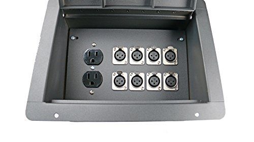 Elite Core FBL8 Recessed Floor 8 XLRF + Duplex AC with Back Box