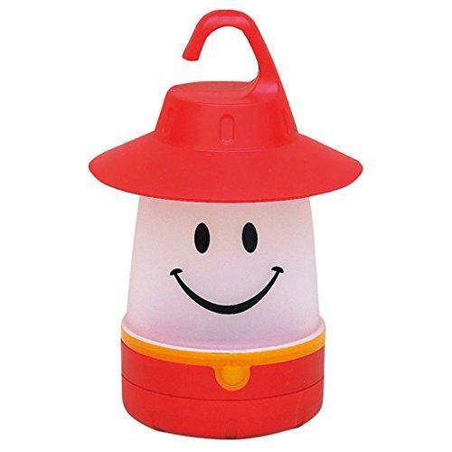 Time Concept Smile LED Lantern: Portable Night Light Camping Lantern For Kids (Hibiscus),Red