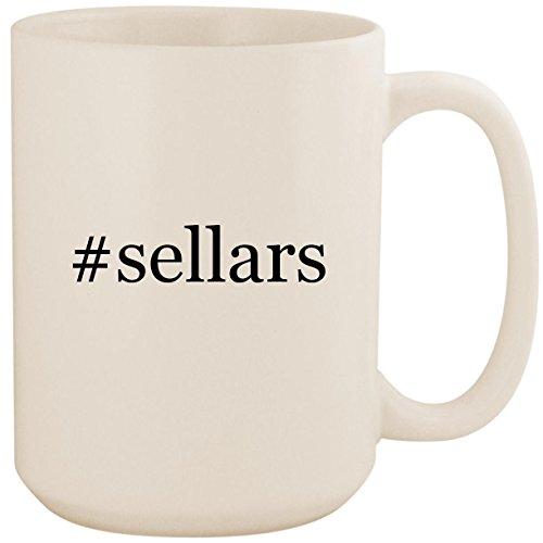 #sellars - White Hashtag 15oz Ceramic Coffee Mug Cup
