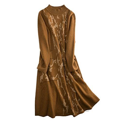 Slim Moda Lunghi Vintage Marrone Maglie Eleganti Simpatiche Sweater Maglione Maglioni Cargo Donna Cotone Skitor Casual Maglieria gnUq1Azz