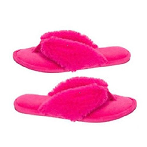 Thong Pink Slippers Dearfoams Pile Women's X8wCTq4
