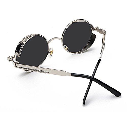 UV400 Gafas de redondas sol Juleya Retro Vintage Gothic C12 Classic Gafas STEAMPUNK Mujer sol Hombre de xxq6wzpR