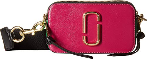 (Marc Jacobs Women's Snapshot Crossbody Bag, Magenta Multi, One Size)